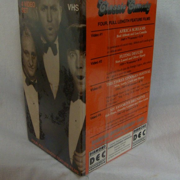4 NEW Comedy VHS Set -